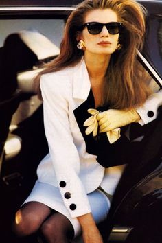 Yves Saint Laurent in Vogue US January 1989 via www.fashionedbylove.co.uk