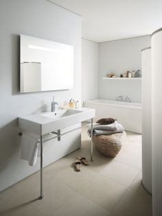 Duravit Bathrooms duravit vero basin with backsplash - another option for c's