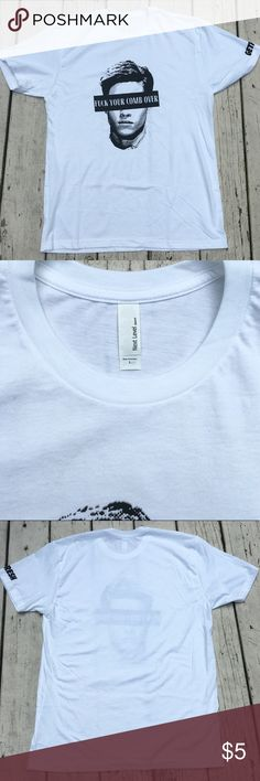 Men's Graphic Tee Men's Next Level Apparel graphic white tee with black writing. Never warn and in excellent condition. No trades! Next Level Apparel Shirts Tees - Short Sleeve