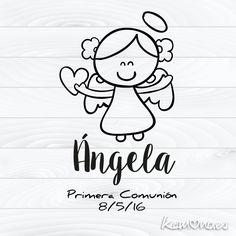 Sello Primera Comunión. Angelita