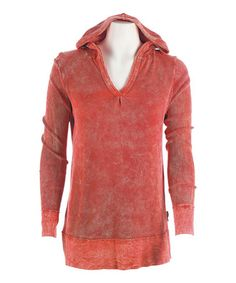 Look what I found on #zulily! Red Clay Mineral Wash Yoga Thermal Hoodie by Ojai Clothing #zulilyfinds