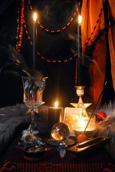 Samhain 2010 Altar  by ~KittieWarner  Stunning!