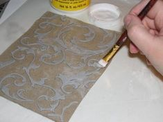 another homemade embossing/texture plate tutorial. (I REALLY need some more mod podge!!!)