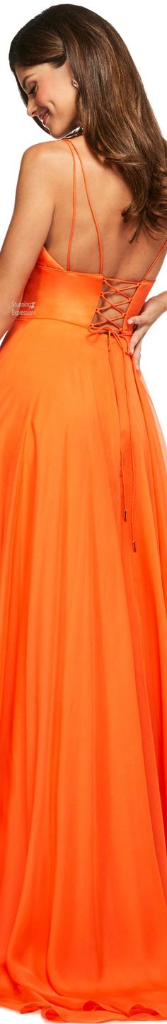 Orange Fashion, Amazing Women, Orange Color, Sherri Hill, Cool Girl, Outfit Of The Day, Swimsuits, Swimwear, Strapless Dress