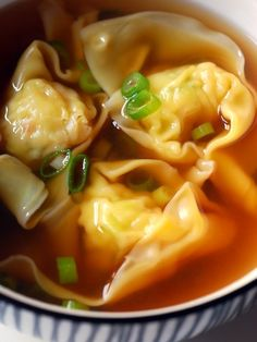 prawn dumpling soup