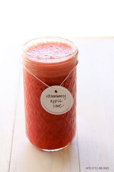 Fresh Strawberry, Apple & Lime Juice Recipe