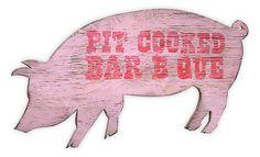 "One Kings Lane - Farm-Fresh Style - 27"" BBQ Pig Sign"