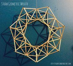 Straw Geometric Wreath