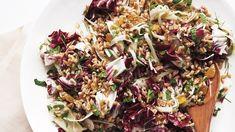 Farro Salad with Fennel, Golden Raisins, and Radicchio