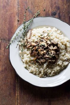 Baked Wild Mushroom Risotto -- The Clever Carrot