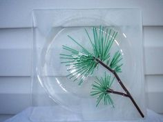 Snowy Pine Fused Glass Plate - Craftster.org GLASS CRAFTS
