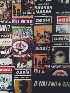 Hey, I'm Jacob and I love Oasis. Oasis Lyrics, Oasis Music, Band Wallpapers, Animes Wallpapers, Music Collage, Wall Collage, Liam Oasis, Oasis Album, Oasis Band