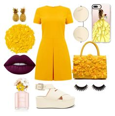 """""""Sunny Sommer ^^"""" by vayanochii ❤ liked on Polyvore featuring Warehouse, Alexander Wang, Victoria Beckham, Casetify, Illamasqua, Lime Crime and Marc Jacobs"""