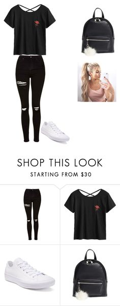 """""""School Outfit"""" by viola-rawr on Polyvore featuring Topshop, Converse and BP."""