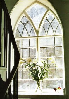 Gothic Window Linen And Lavendar
