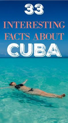Interesting facts about Cuba. Cuba is one of the most interesting countries in the World with decades of history, turmoil, change and perseverance. The US Embargo alone is enough to pique the interest of even the most laid back traveler. We recently traveled to Cuba under the new General License relaxation and couldn't help but accrue some interesting facts about Cuba. Click to read the full travel blog post at http://www.divergenttravelers.com/interesting-facts-about-cuba/
