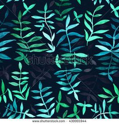 Flower pattern  tropical plants.Ornament  fabric.Painting…