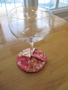Sew Many Ways...: Tool Time Tuesday...Easy Handmade Coasters - for wine glasses