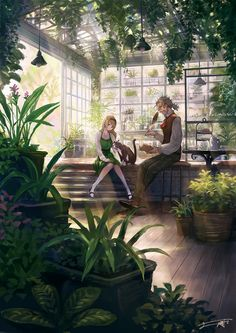 /r/Moescape is a place to post all of your favorite artworks and screen caps of cute Anime characters in their environment. The emphasis should. Fantasy City, Fantasy World, Pixiv Fantasia, Greenhouse Interiors, Fantasy Concept Art, Sad Art, Environment Concept Art, Scenery Wallpaper, Fantasy Landscape
