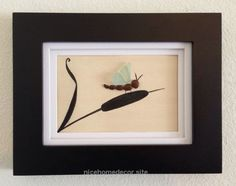 Genuine light blue sea glass art, pebble art, framed and matted art, home decor, beach decor, unique gift, dragonfly, wall hanging  http://www.nicehomedecor.site/2017/08/03/genuine-light-blue-sea-glass-art-pebble-art-framed-and-matted-art-home-decor-beach-decor-unique-gift-dragonfly-wall-hanging/