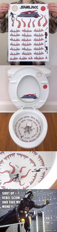 Hilarious! but Real Life would make it gross pretty quickly. :Sarlacc toilet decoration Why not!