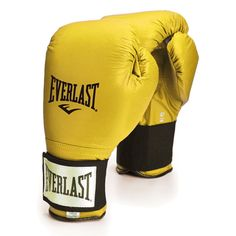 gold/yellow Everlast boxing gloves