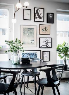 Un appartement neuf en noir et blanc