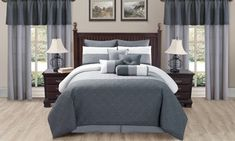 Groupon - Quilted Room-in-a-Bag Comforter Set with Curtains (20-Piece). Groupon deal price: $99.99