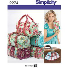 Simplicity Pattern Bag Accessories, One Size