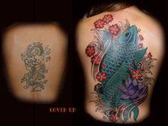 28 Graceful Cover Up Tattoo Ideas - Pelfind