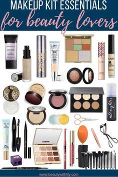 Makeup Kit Essentials For Beauty Lovers // Makeup Starter Kit for Intermediates Beginner Makeup Kit, Makeup Tips For Beginners, Lakme Makeup Kit, Barbie Make-up, Makeup Kit For Kids, Airbrush Makeup Kit, Makeup Kit Essentials, Full Makeup, Beauty Makeup