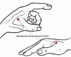 Acupressure points for common pains    Headache, Migraine, Sinus Acupressure Point