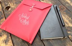 Custom made and stitched Moleskine notebook sleeves
