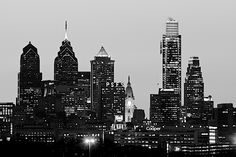 philadelphia skyline pictures | Philadelphia Skyline in Black and White