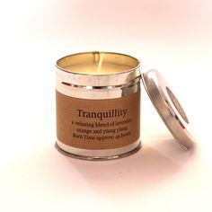 Tranquility Candle Tin - This wonderfully relaxing candle is a unique blend of lavender, orange & ylan ylang. St Eval are based in rural Cornwall where they take inspiration from their beautiful natural surroundings to create heavenly scented handmade candles. They endeavour to make unique and interesting fragrances and hand pour each fragranced candle. St Eval are passionate about the environment and use recycled packaging and even have a wind generator to reduce their impact on our planet…