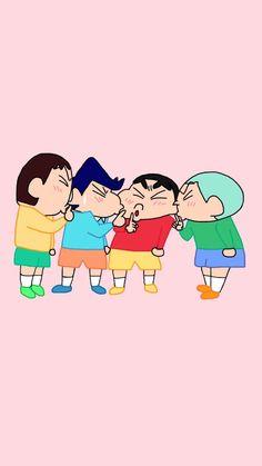 Sinchan Wallpaper, Cartoon Wallpaper Iphone, Cute Wallpaper Backgrounds, Cute Wallpapers, Sinchan Cartoon, Back Cover Design, Crayon Shin Chan, Cute Cartoon Pictures, Cute Doodles
