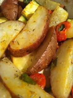 Roasted Red Potatoes and Veggie Medley