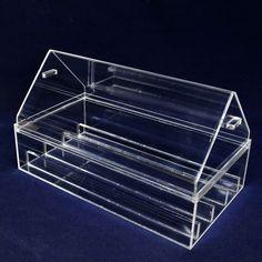 Caixa de acrílico para laboratorio