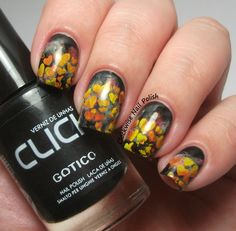 The Clockwise Nail Polish: Hearts on Fire Nail Art