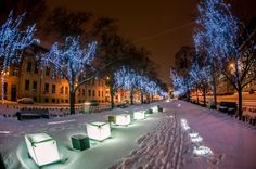 Szczecin pięknie się świeci Poland, Spaces, Inspired, Outdoor, Inspiration, Fantasy, Outdoors, Biblical Inspiration, Outdoor Games
