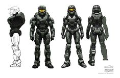 """Rather subtle and """"organic"""" gender depiction // Halo series, art by Isaac Hannaford"""