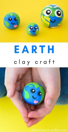 Planet Earth: Clay Craft for Earth Day & Earth Study Celebrate Earth Day with kids by making this Earth craft from air-dry clay! Clay Crafts For Kids, Diy For Kids, Diy Crafts, Air Dry Clay Ideas For Kids, Earth Craft, Earth Day Crafts, Earth Day Activities, Activities For Kids, Stem Activities