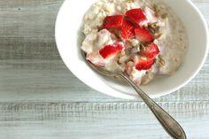 Strawberry Swiss Oatmeal by thebackburner #Oatmeal #Strawberry #thebackburner