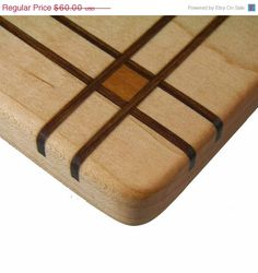 Wood Inlay Wooden Cutting Board The Pulman