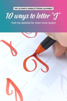 """10 ways to letter """"J""""! more styles on my website. The videos shows some . Creative Lettering, Lettering Styles, Brush Lettering, Hand Lettering For Beginners, Hand Lettering Tutorial, Hand Lettering Alphabet, Calligraphy Letters, Letter I, Lower Case Letters"""