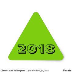 Class of 2018 Yellowgreen Triangle Sticker by Janz