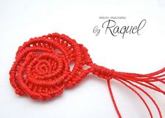 Rosa Margaretenspitze by Raquel's Designs, Micro #Macrame This appears to be macrame not tatting but still very pretty.