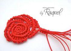 Rosa Margaretenspitze by Raquel's Designs, Micro #Macrame
