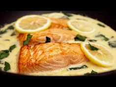 Pește delicat în sos cremos # 86 - YouTube Fish Recipes, Seafood Recipes, Cooking Recipes, Sauce Crémeuse, Lemon Butter Sauce, Creamy Sauce, Fish And Seafood, Thai Red Curry, Healthy Eating