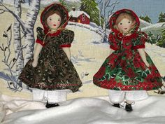 The sisters pose together. Belinda and Melinda are made from a vintage 1934 pattern from famous doll maker-Edith Flack Ackley. sorry sold Doll Clothes Patterns, Doll Patterns, Sewing Patterns, Sister Poses, Comfortable Bras, Voodoo Dolls, Fabric Dolls, Rag Dolls, Doll Shop